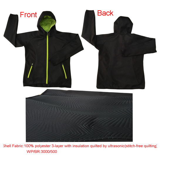 women black hoody softshell jacket