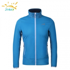 Men soft shell Jacket with hood and polar fleece backing